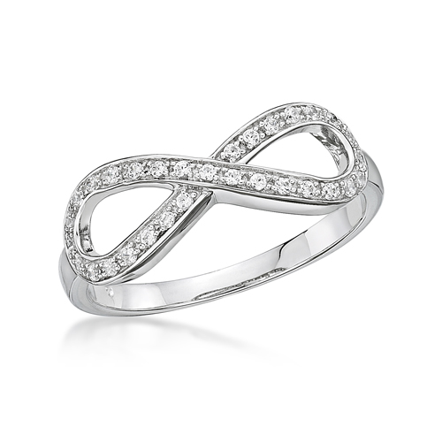 Infinity Ring set with Swarovski Zirconia's